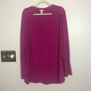 AVA & VIV Long Sleeve Top, Size 4X